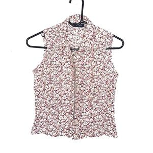 The Limited Floral Sleeveless Blouse Vest